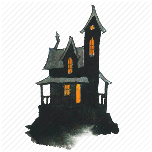 Halloween House PNG Pic SVG Clip arts