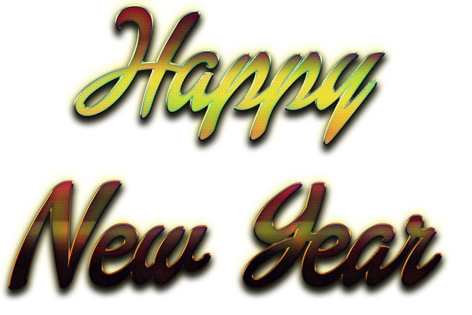 Happy New Year Letter Transparent Background SVG Clip arts