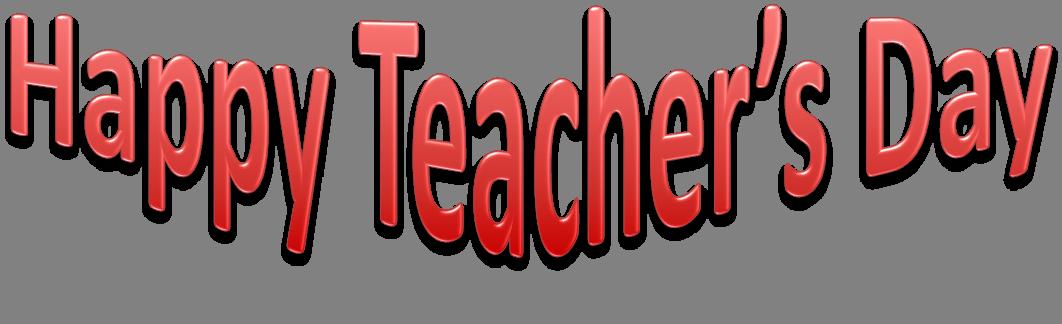 Happy Teachers Day Transparent Background SVG Clip arts