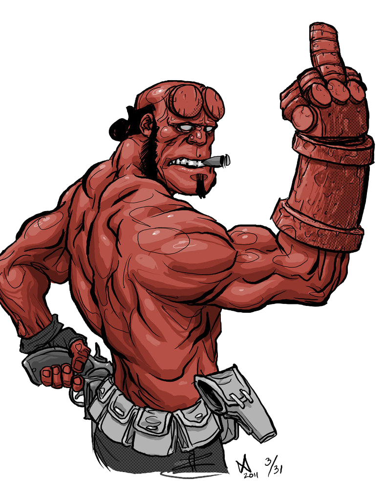 Hellboy PNG Free Download SVG Clip arts