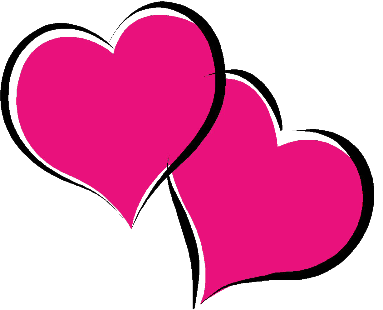 Hot Pink Heart PNG Pic SVG Clip arts