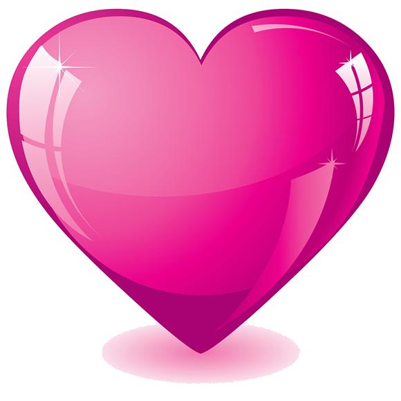 Hot Pink Heart Transparent Background SVG Clip arts