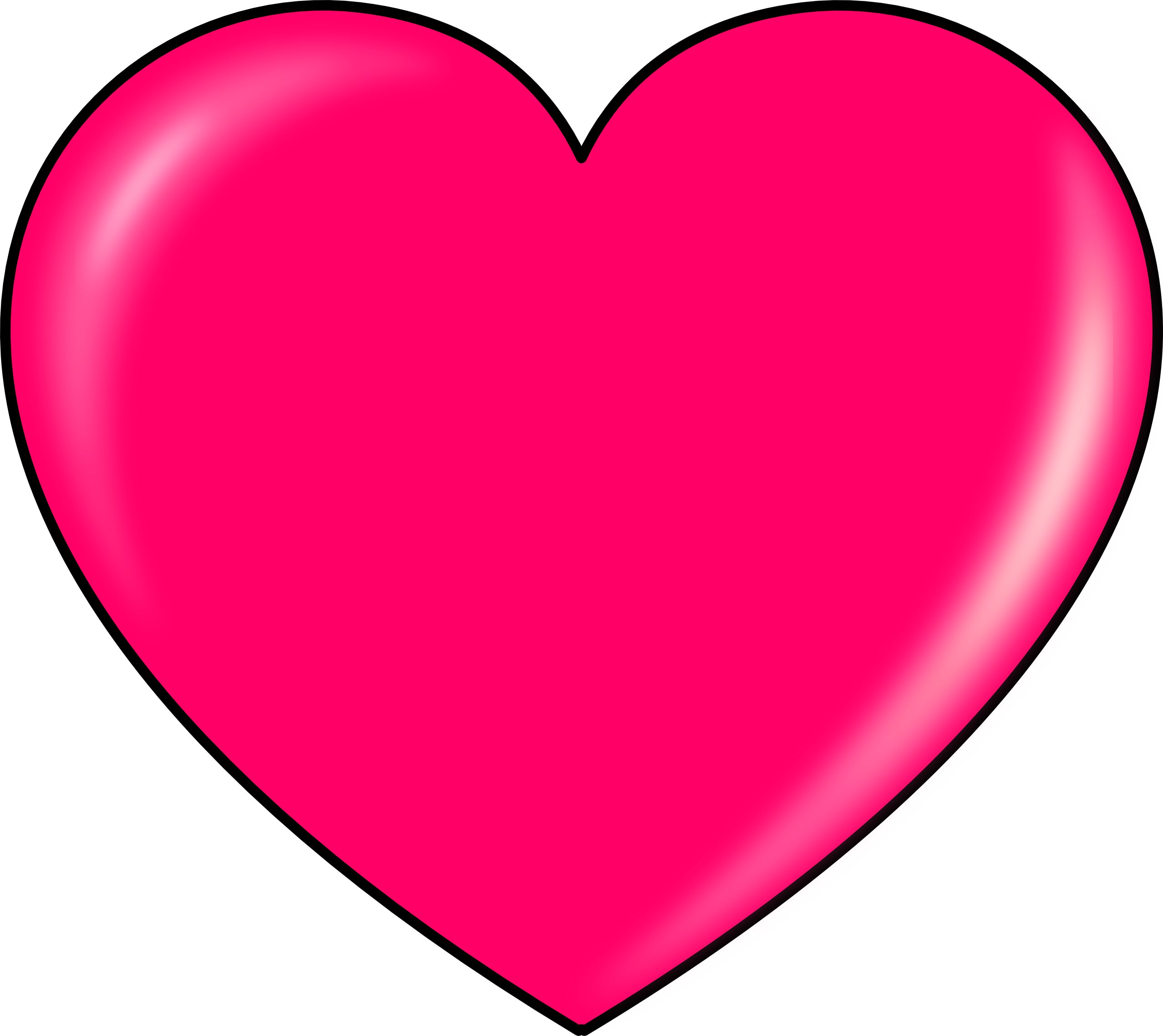 Hot Pink Heart Transparent PNG SVG Clip arts
