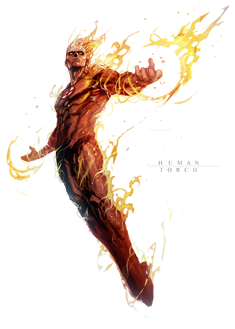 Human Torch PNG File SVG Clip arts
