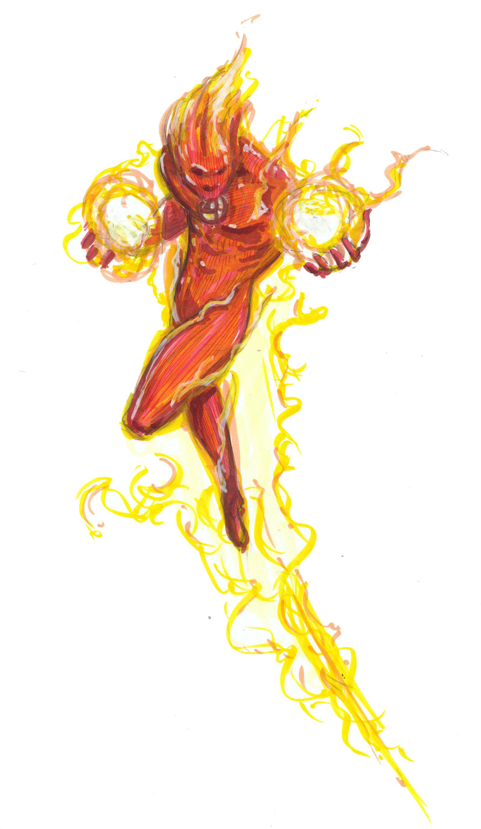 Human Torch PNG HD SVG Clip arts
