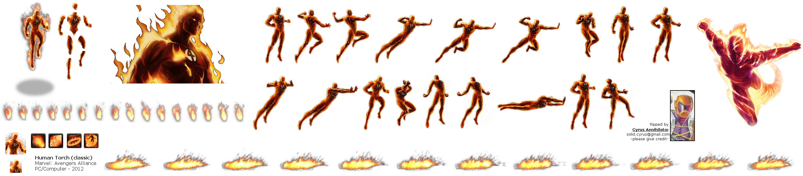 Human Torch PNG Transparent PNG file