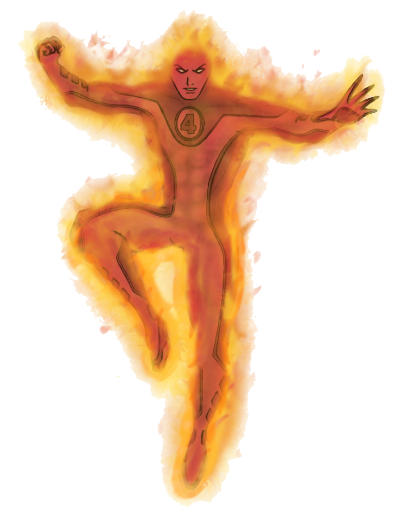 Human Torch Transparent PNG SVG Clip arts
