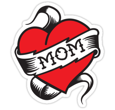 I Love Mom Heart Tattoo PNG SVG Clip arts