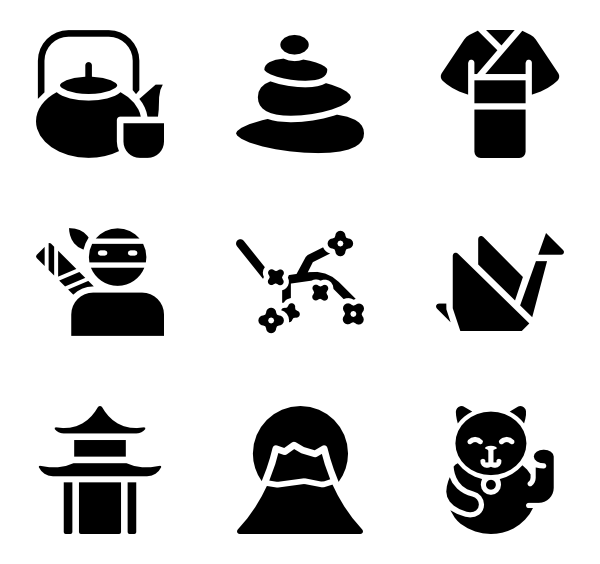 Japanese Elements PNG Photos SVG Clip arts