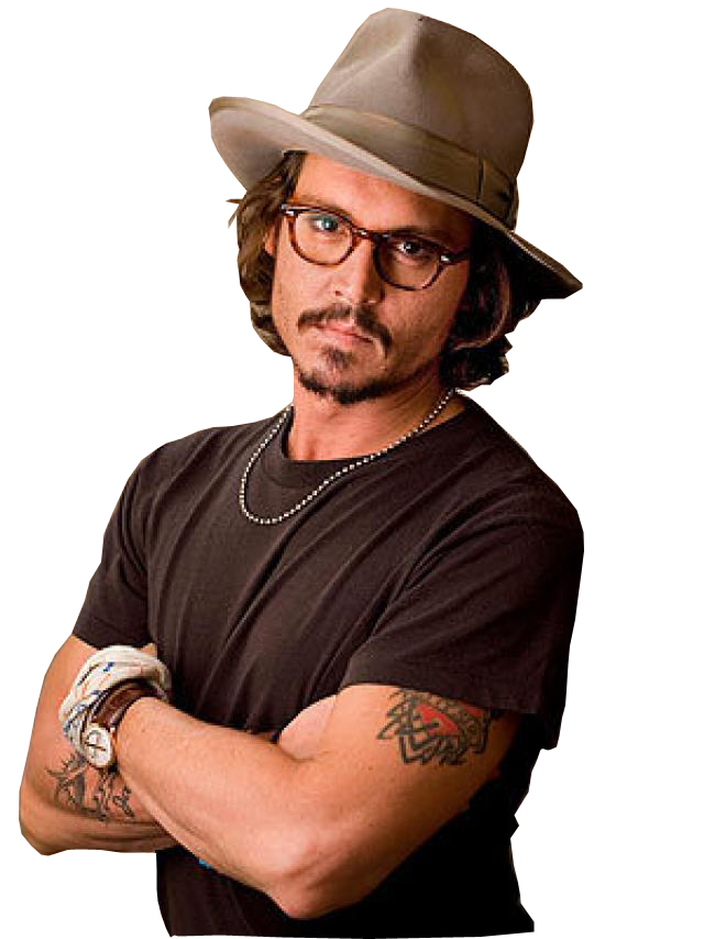Johnny Depp PNG Transparent SVG Clip arts