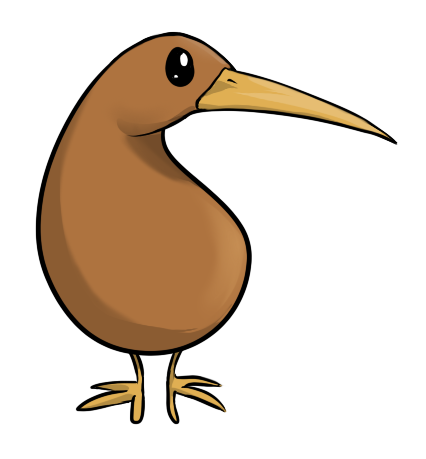 Kiwi Bird PNG File SVG Clip arts