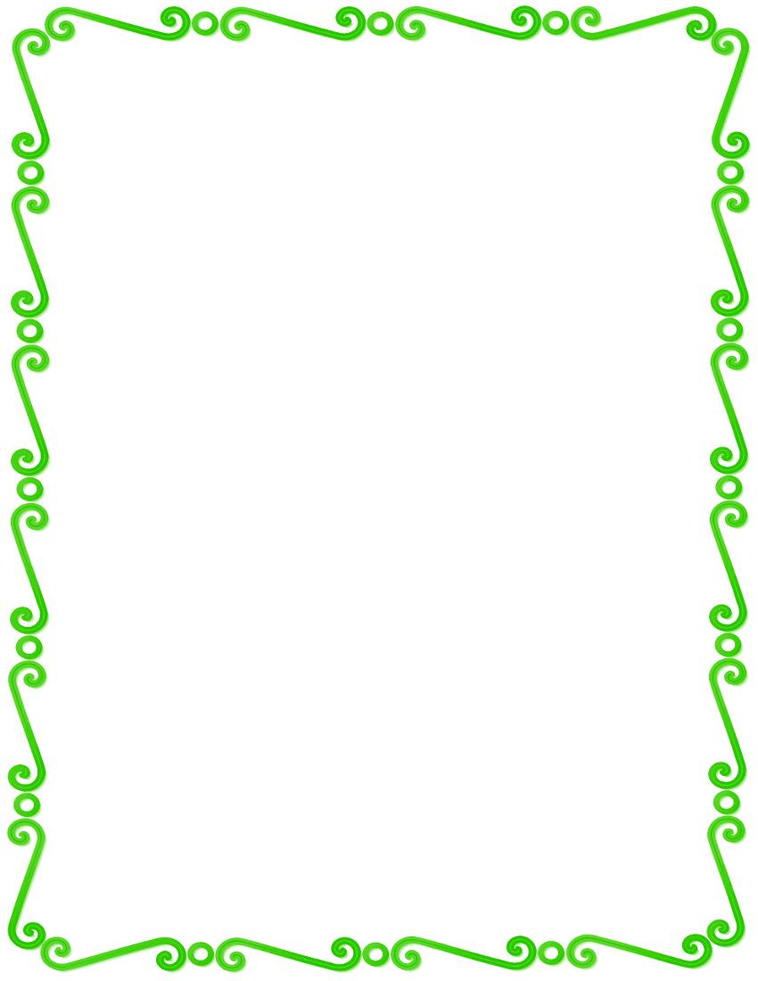 Lime Border Frame PNG Pic SVG Clip arts
