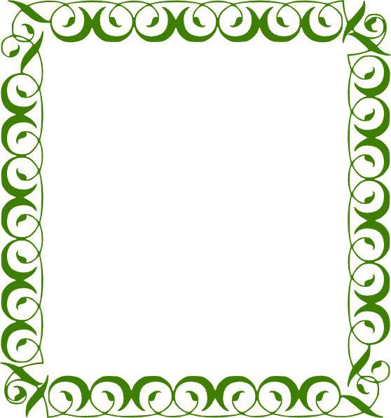 Lime Border Frame Transparent Background SVG Clip arts