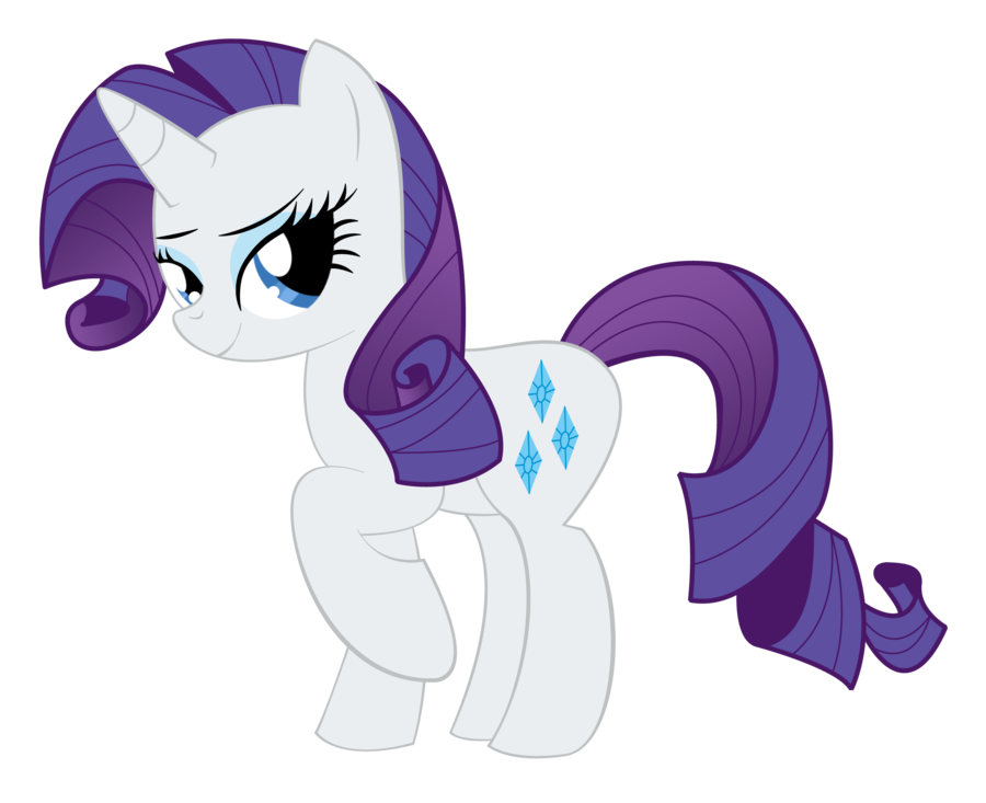 My Little Pony Rarity Transparent Background SVG Clip arts