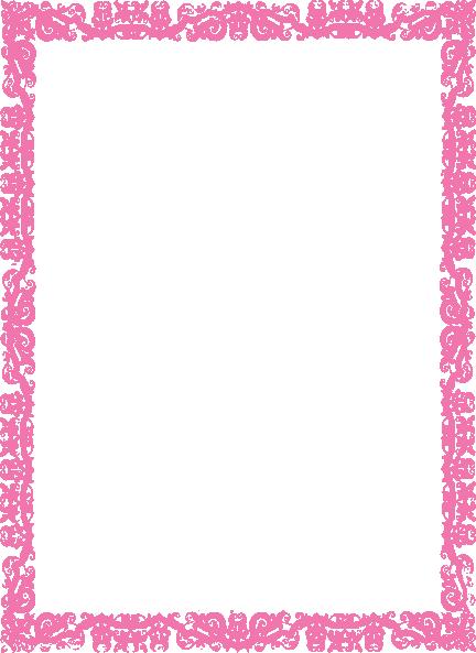 Pink Border Frame PNG Photos SVG Clip arts