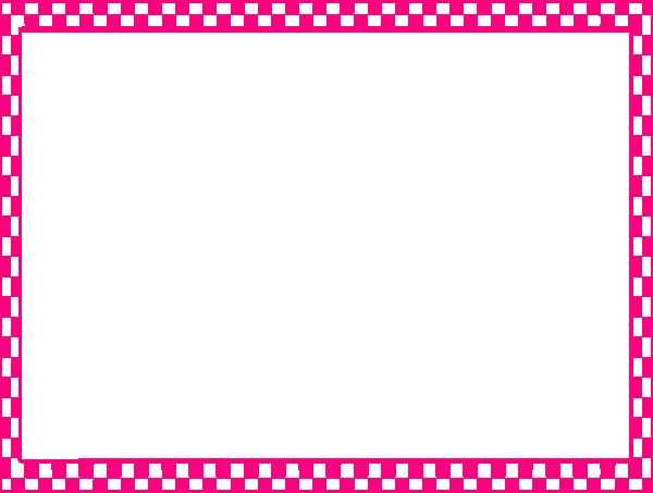 Pink Border Frame PNG Pic SVG Clip arts