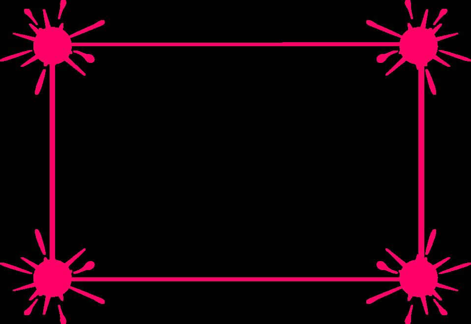 Pink Border Frame PNG Transparent SVG Clip arts