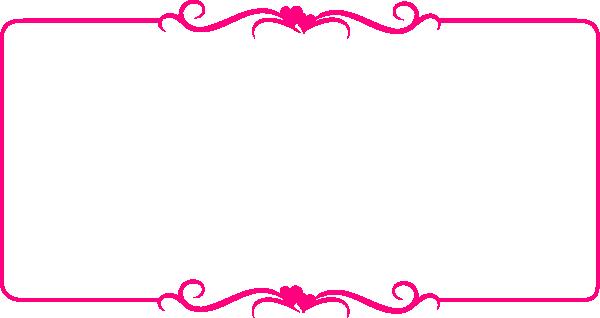 Pink Border Frame Transparent Background SVG Clip arts