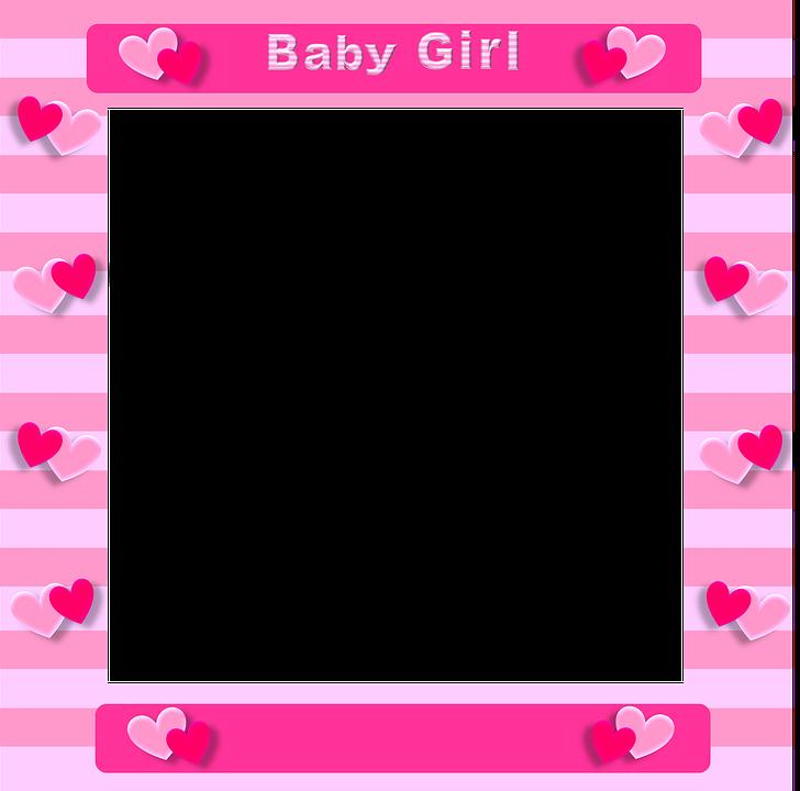 Pink Border Frame Transparent PNG SVG Clip arts