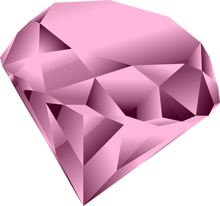 Pink Diamond Heart PNG Clipart SVG Clip arts