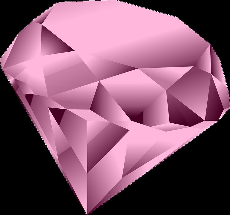 Pink Diamond Heart PNG Clipart SVG Clip arts