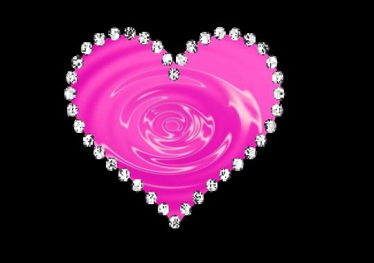 Pink Diamond Heart Transparent Background SVG Clip arts