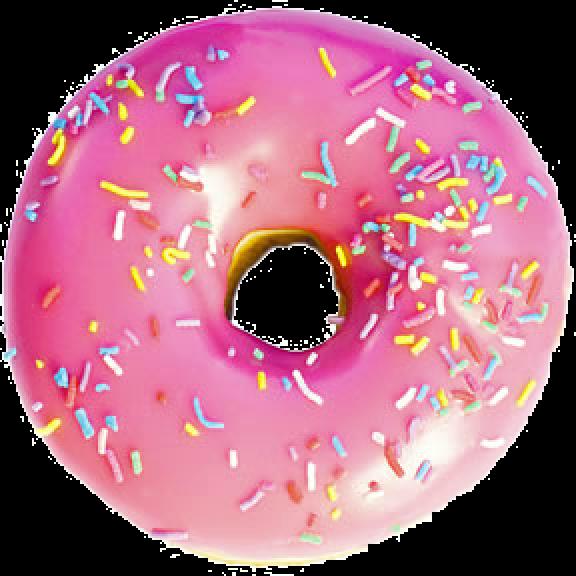 Pink Donut PNG Image SVG Clip arts