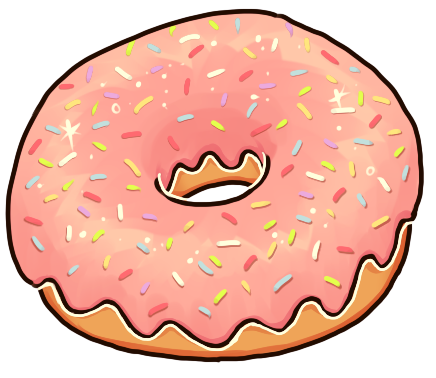 Pink Donut PNG Photos SVG Clip arts