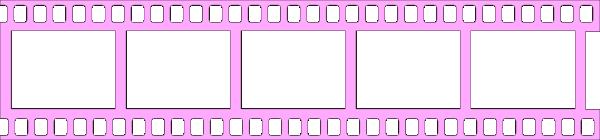 Pink Filmstrip Transparent PNG SVG Clip arts