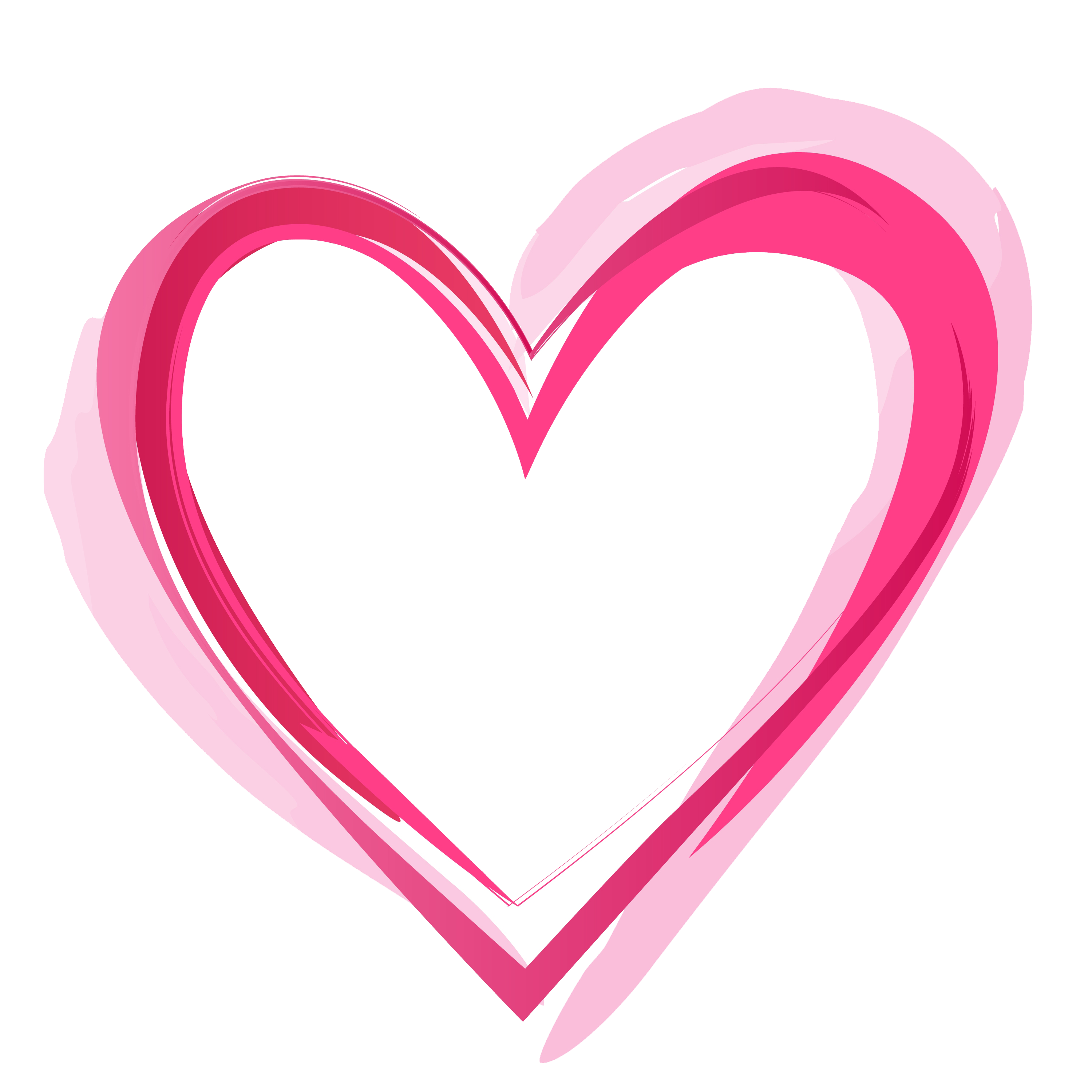 Pink Heart PNG Pic SVG Clip arts