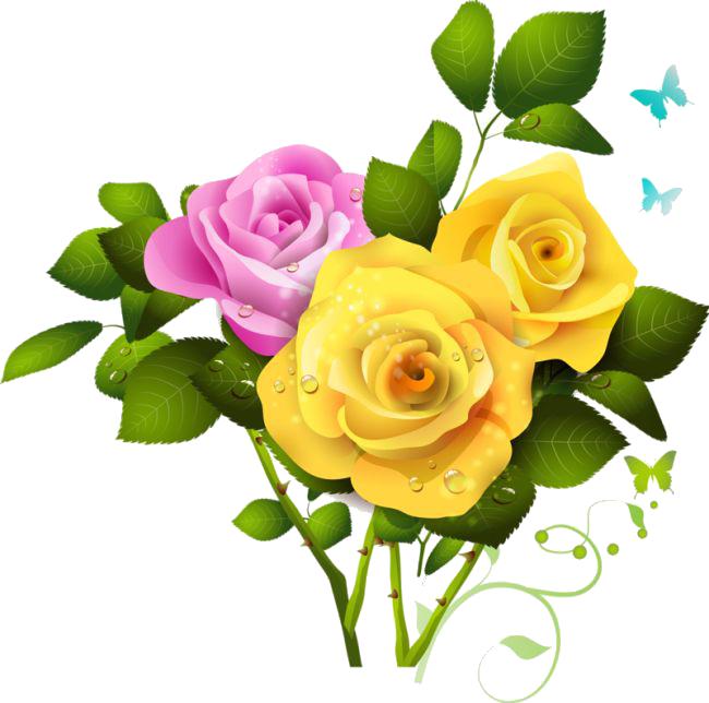 Pink Roses Flowers Bouquet PNG File SVG Clip arts