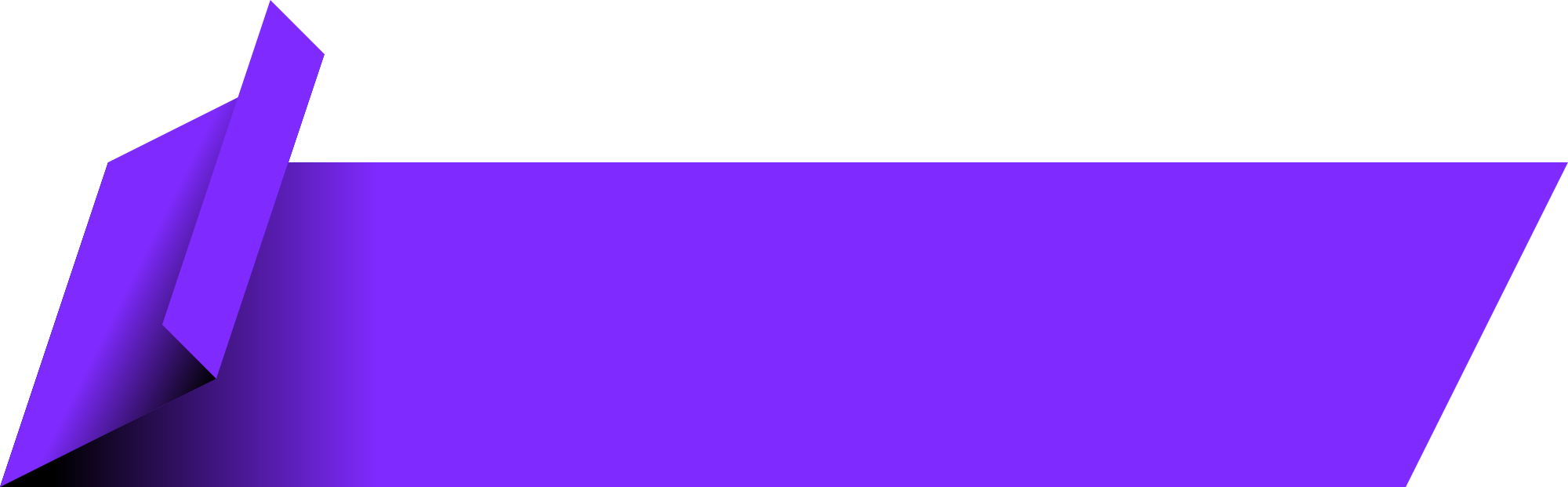 Purple Banner PNG Transparent SVG Clip arts