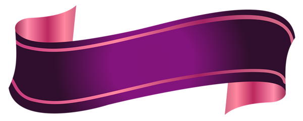 Purple Banner Transparent PNG PNG, SVG Clip art for Web ...
