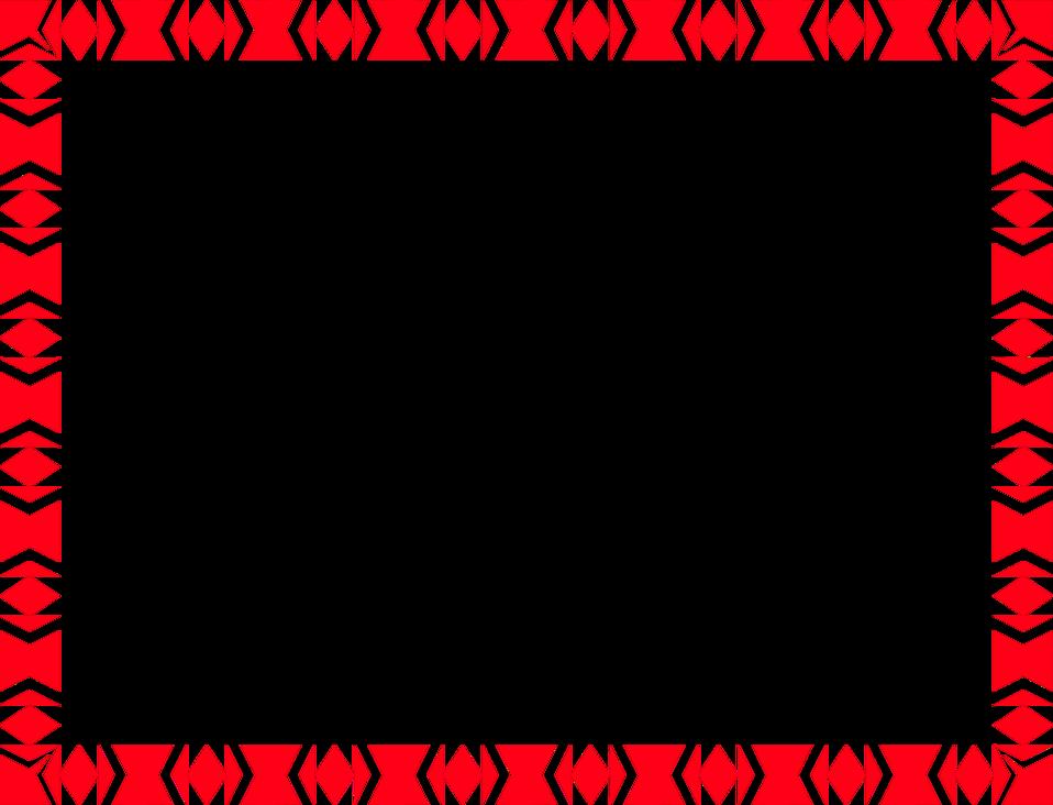 Red Border Frame PNG File SVG Clip arts