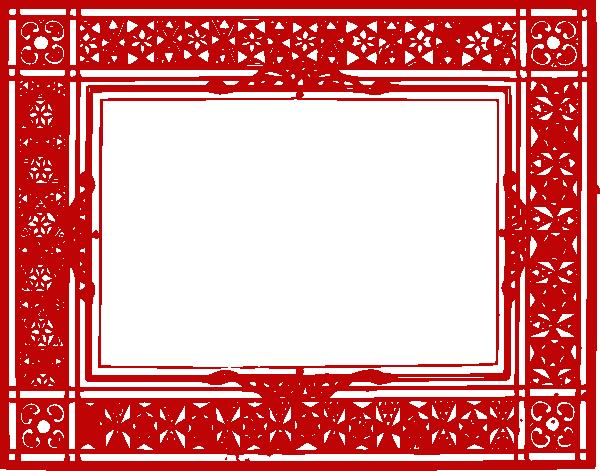 Red Border Frame PNG Transparent Picture SVG Clip arts