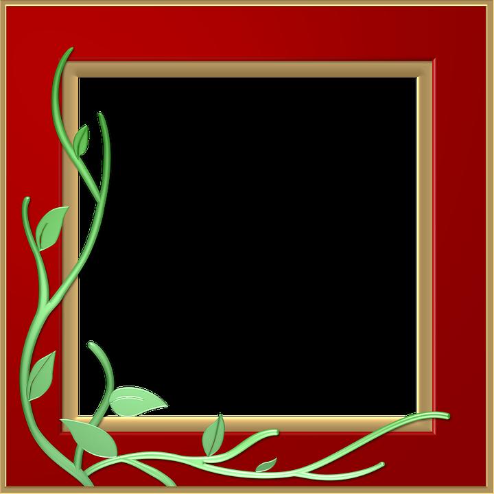 Red Border Frame PNG Transparent SVG Clip arts