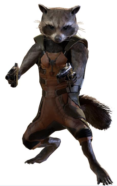 Rocket Raccoon PNG File SVG Clip arts