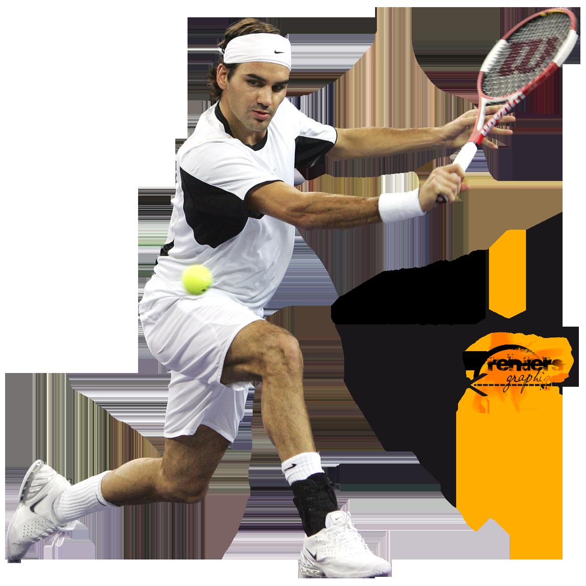 Roger Federer Transparent Background SVG Clip arts