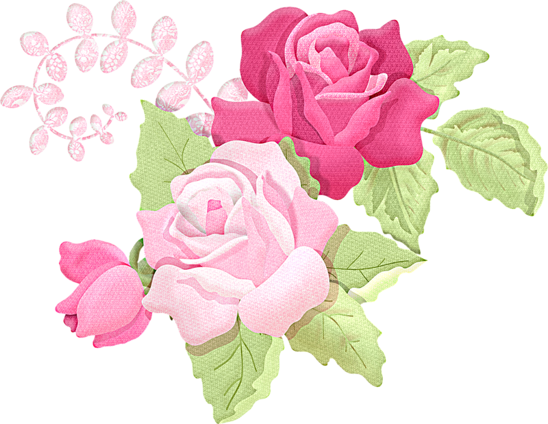 Romantic Pink Flower Border PNG Picture SVG Clip arts