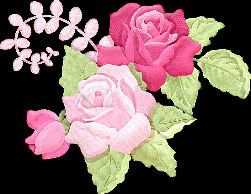 Romantic Pink Flower Border PNG Picture SVG Clip arts