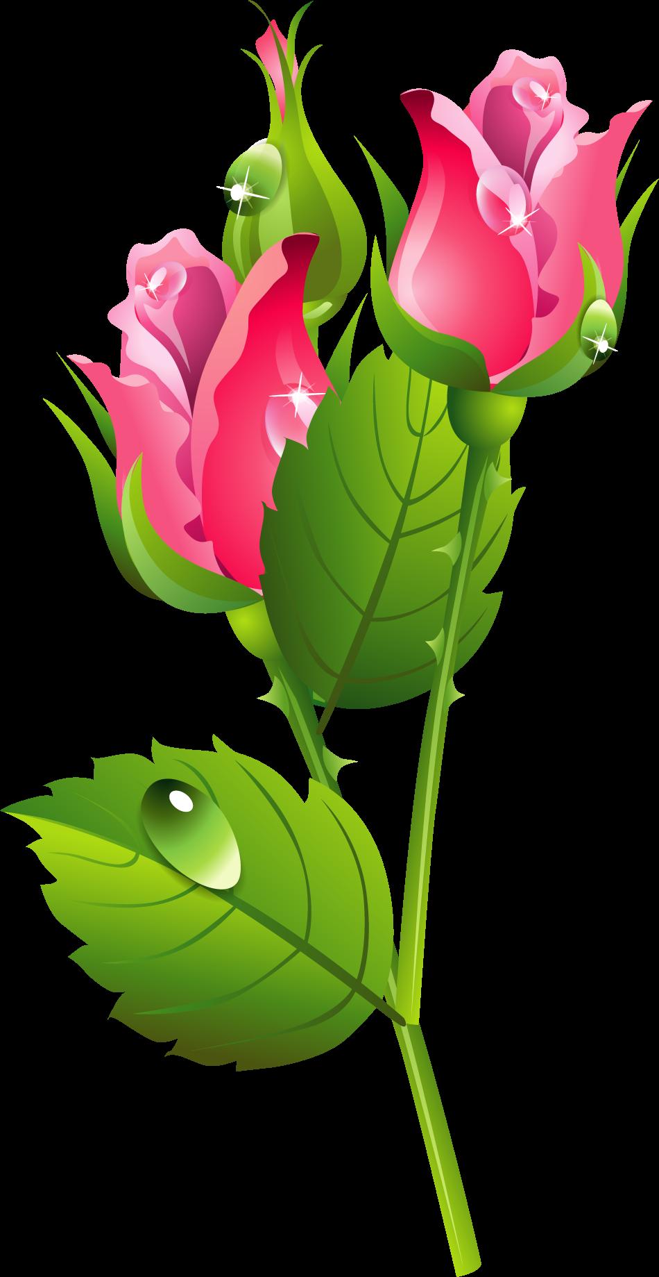 Romantic Pink Flower Border PNG Transparent Image SVG Clip arts