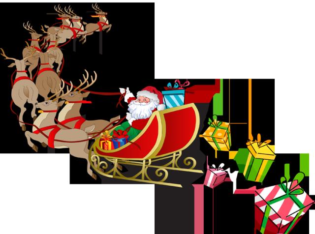 Santa Sleigh PNG Pic SVG Clip arts