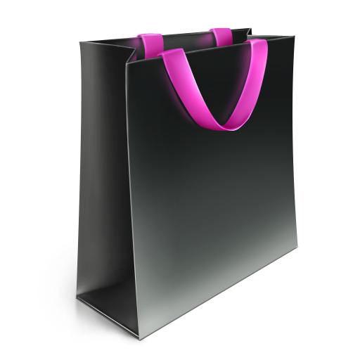 Shopping Bag Icon Black PNG SVG Clip arts