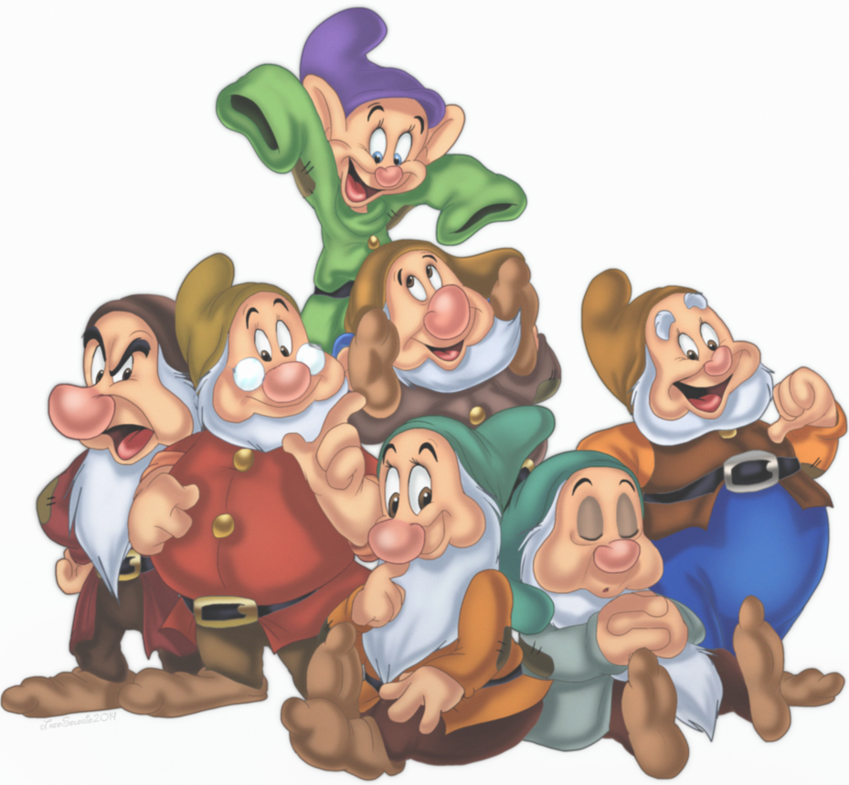 Snow White And The Seven Dwarfs PNG Pic SVG Clip arts