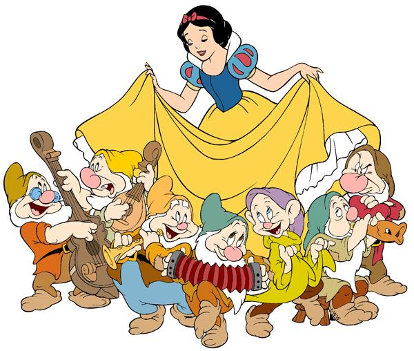 Snow White And The Seven Dwarfs PNG Transparent SVG Clip arts