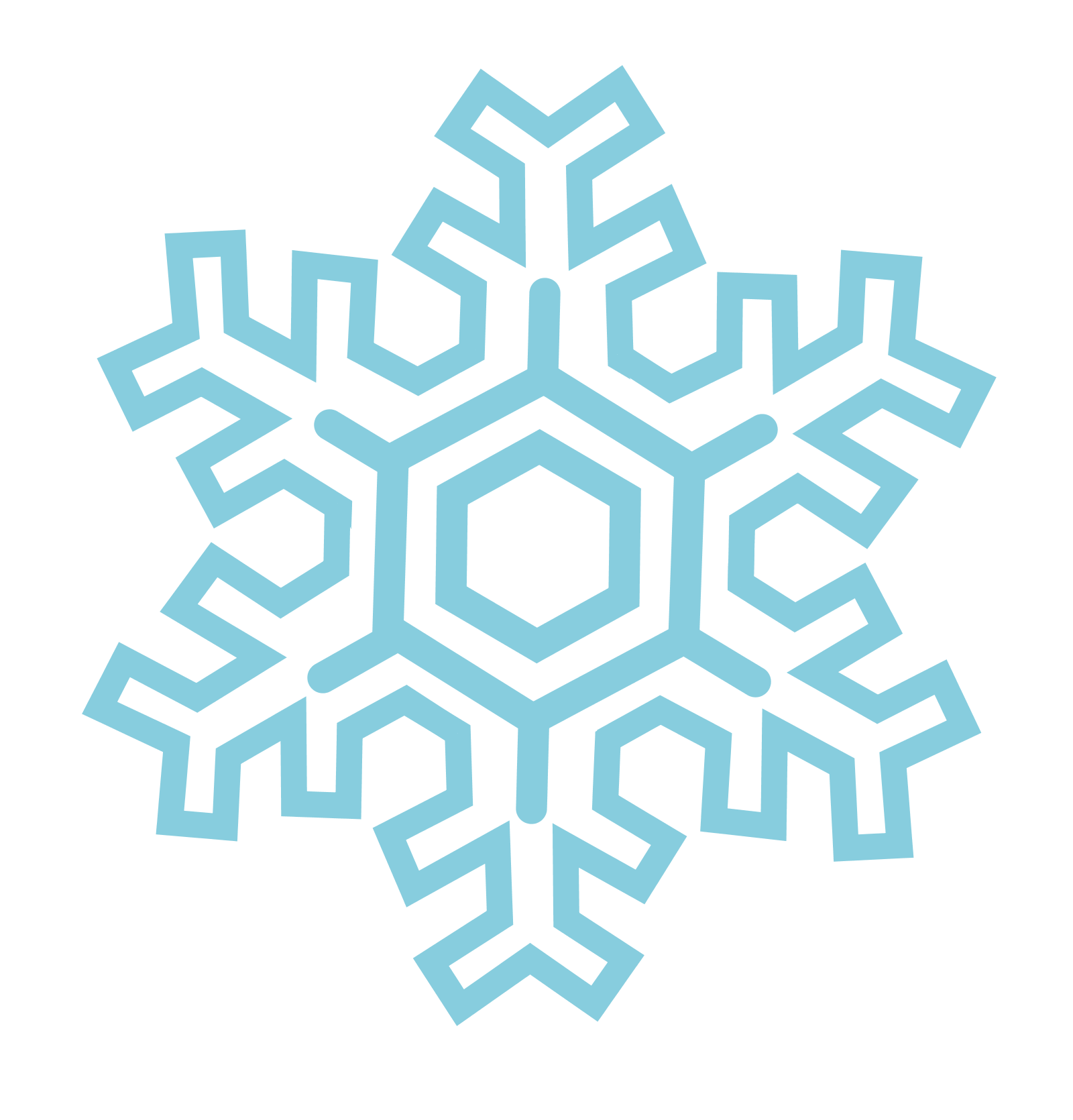 Snowflakes Transparent Background SVG Clip arts