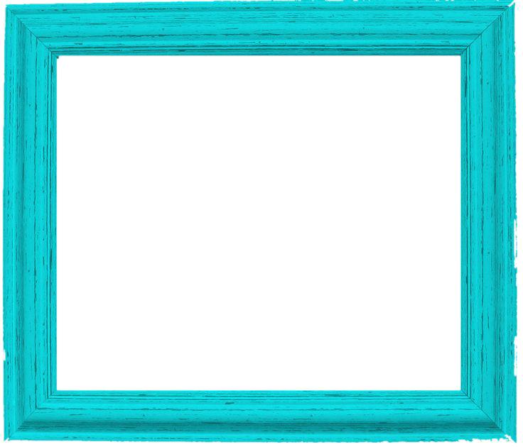 Teal Border Frame PNG Pic SVG Clip arts