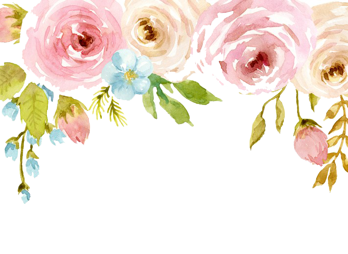 Watercolor Flowers PNG Background SVG Clip arts