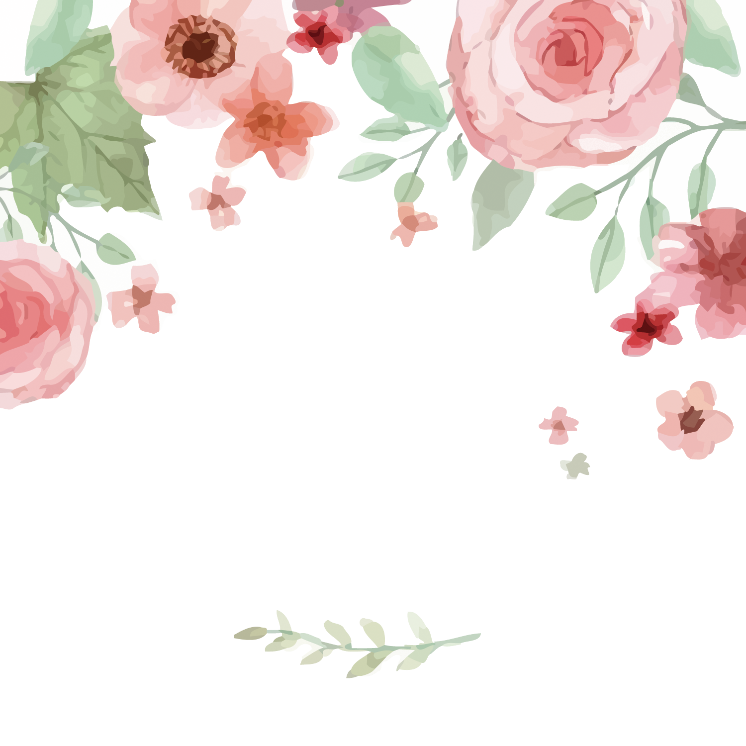 Watercolor Flowers PNG Image Free Download SVG Clip arts