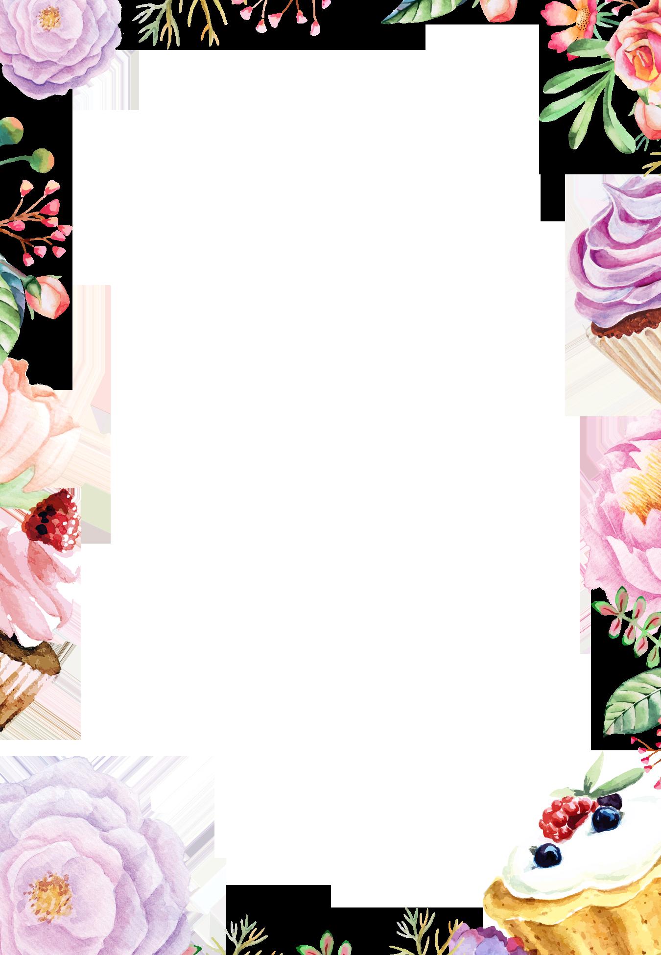 Watercolor Flowers PNG Transparent SVG Clip arts